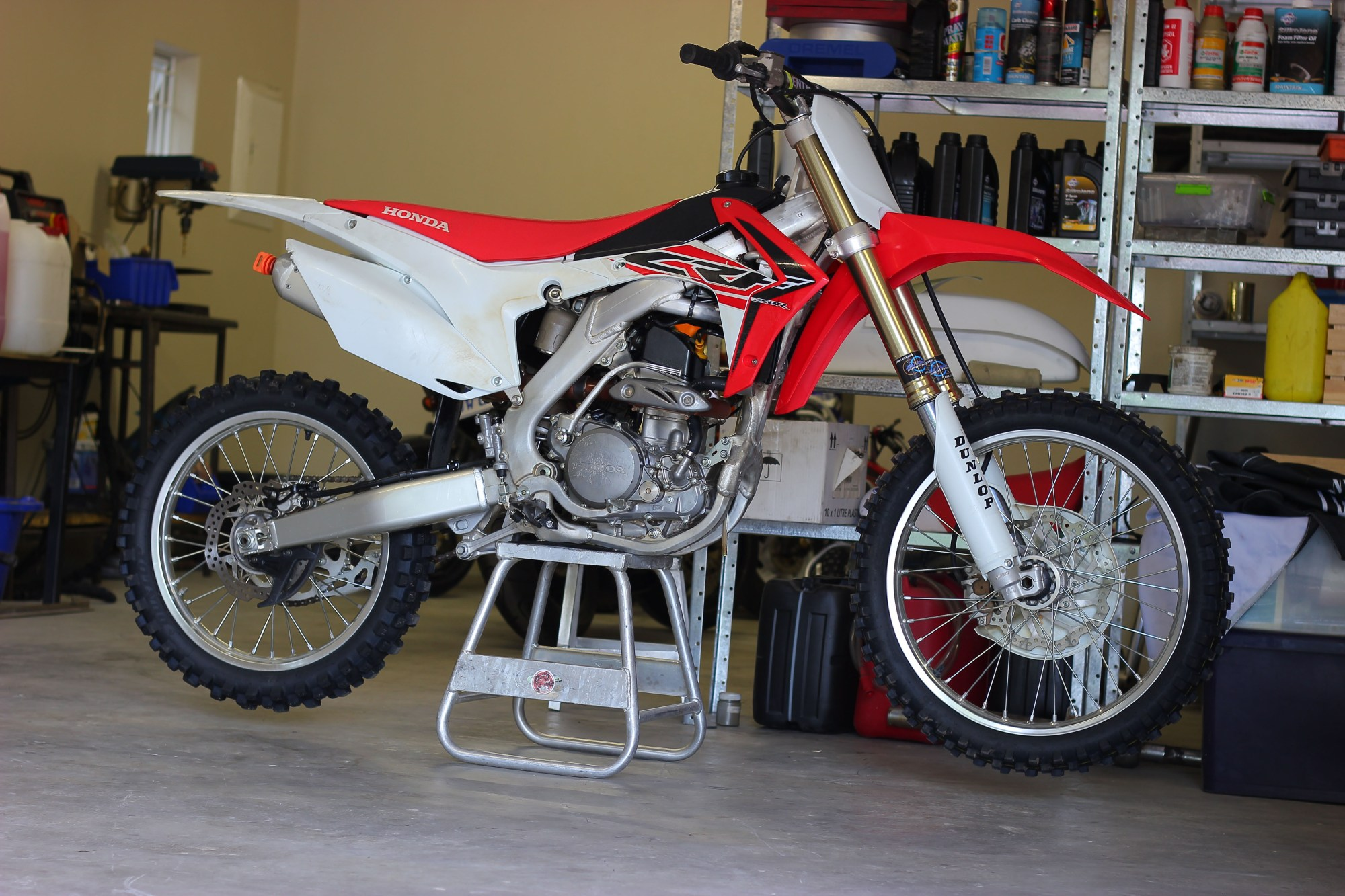 hight resolution of  from the frame up would ve been too costly so justin sold the motor out of his 2014 crf250r and began fabrication to fit the cr250 engine