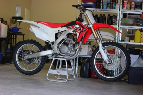 small resolution of  from the frame up would ve been too costly so justin sold the motor out of his 2014 crf250r and began fabrication to fit the cr250 engine
