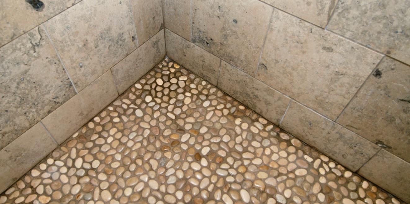 pebble shower flooring ahhh or ouch