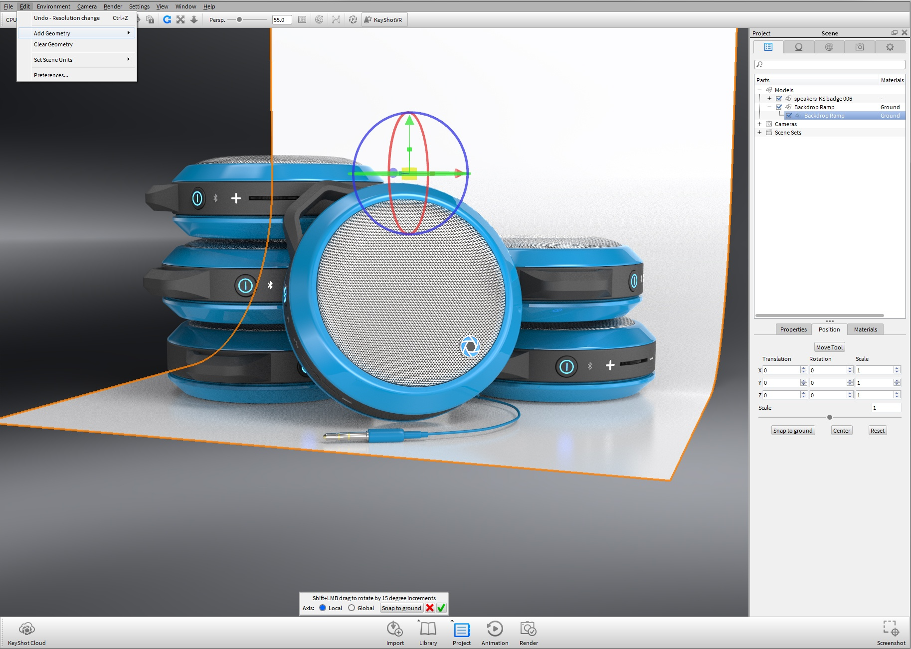 How to Add a Seamless Backdrop in KeyShot