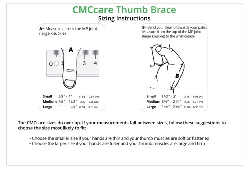 small resolution of cmccare thumb brace sizing chart