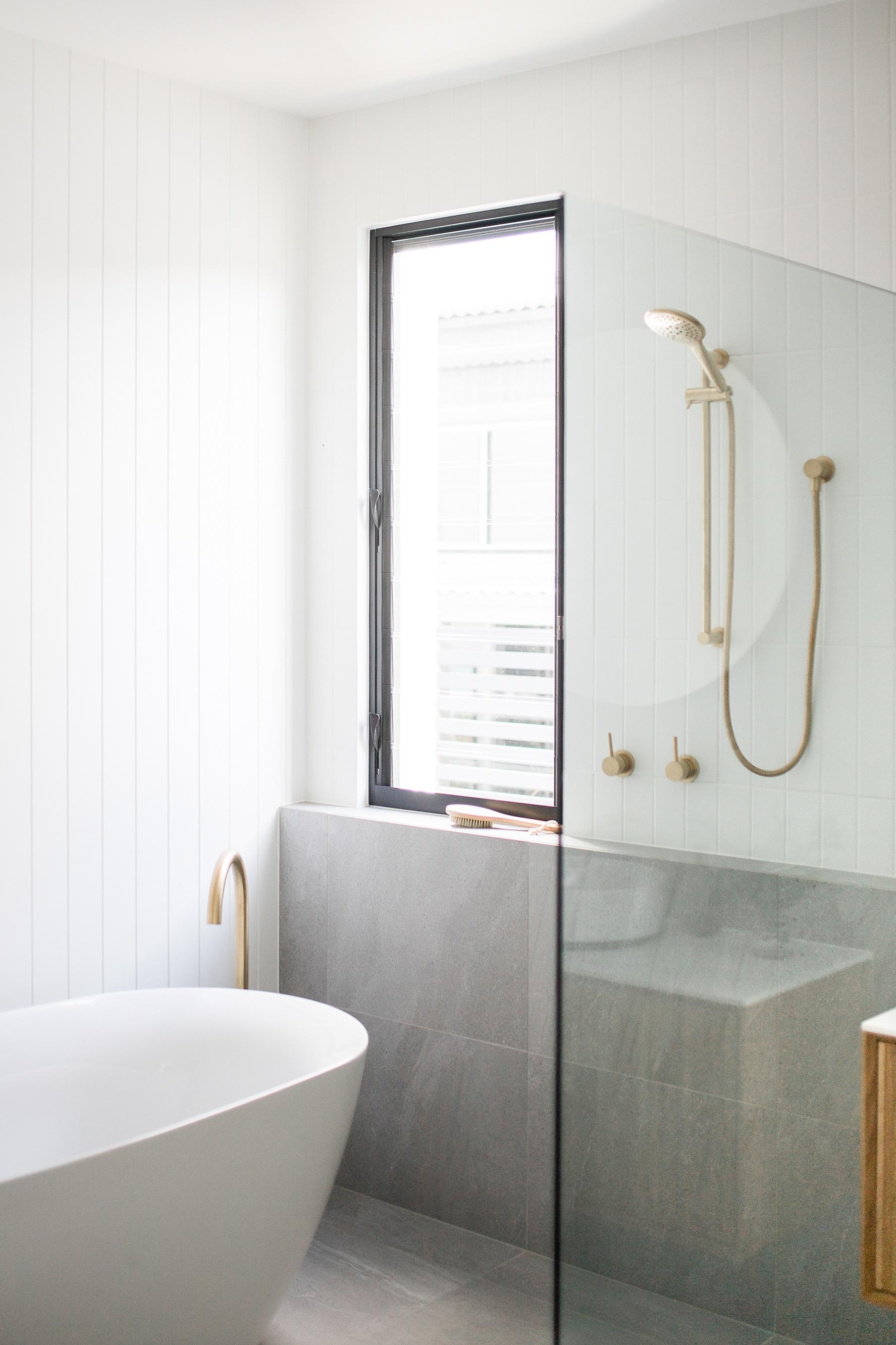 goodbye niche hello shower ledge