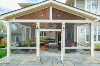 Craftsman Style Screened Porch with Custom Flagstone ...