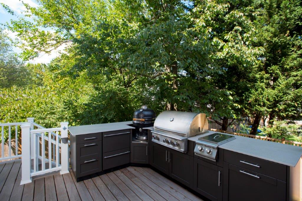 danver outdoor kitchens kitchen mat sets stainless steel and screened porch in bethesda md cabinets cabinet installer dmv metallic bronze matte trim