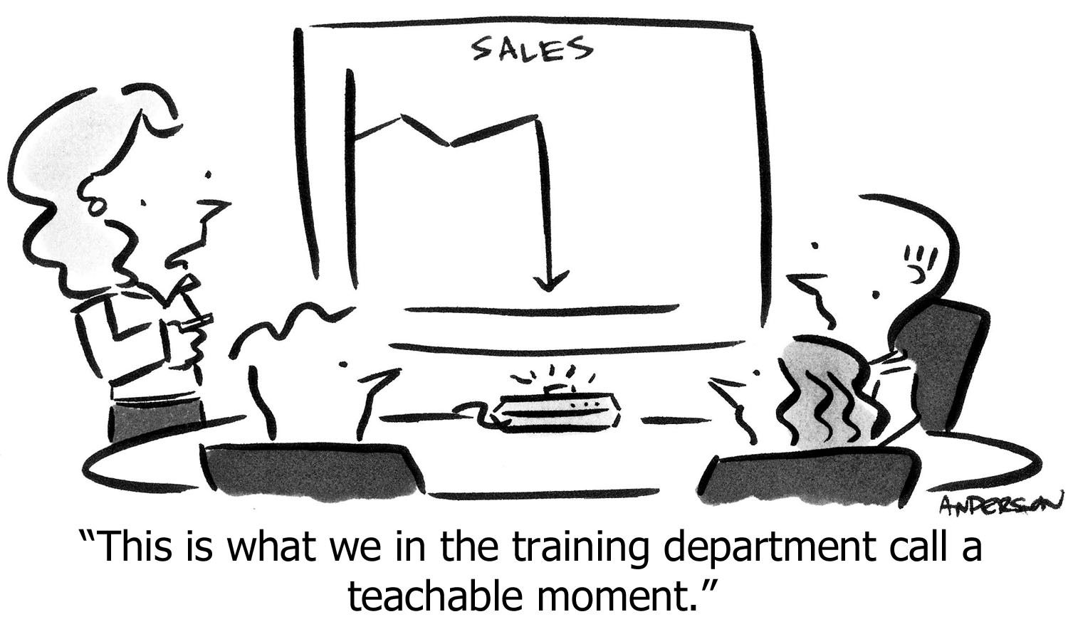 Cartoon: 'This is what we in the training department call