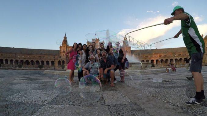 Jimi-Doohan-Spain-group-shot-bubbles