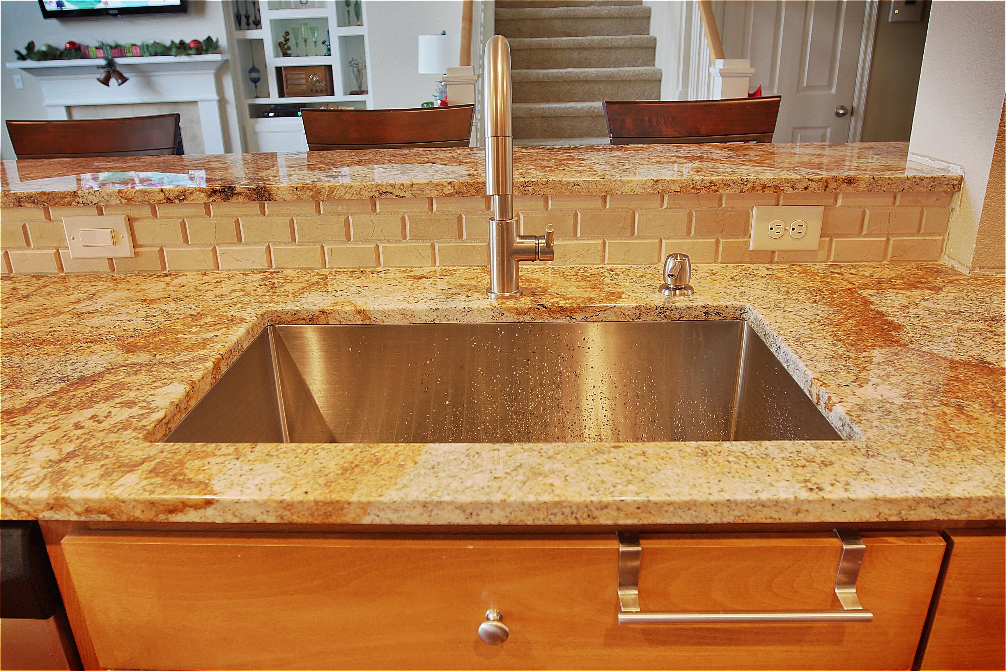 undermount sink failure in granite and