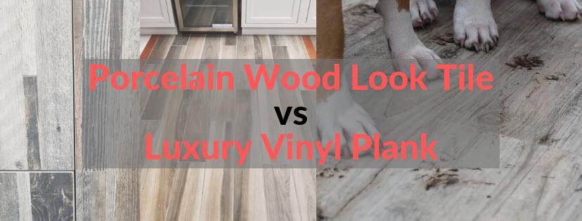 porcelain wood look tile vs luxury