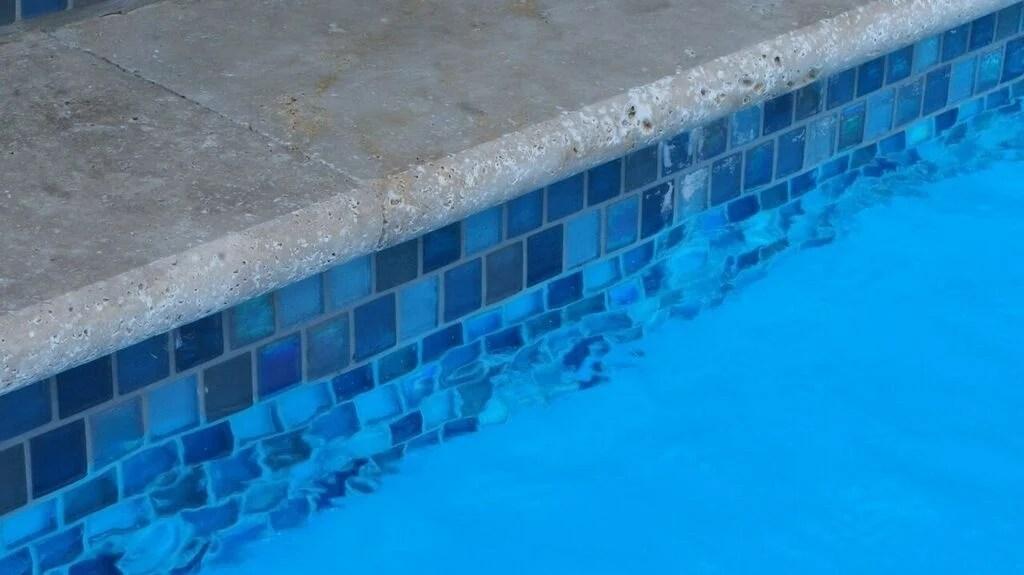 waterline tile on fiberglass pools