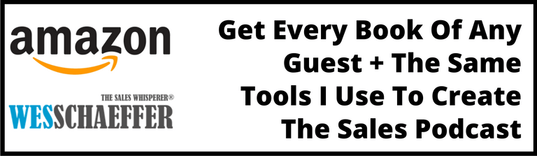 Visit The Sales Podcast Amazon store to order any book of any guest as well as the technology and tools Wes uses to grow his own business.