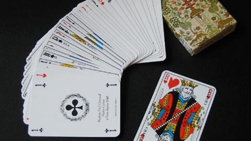 jeu de carte étalé