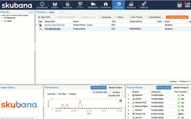 Skubana inventory management software