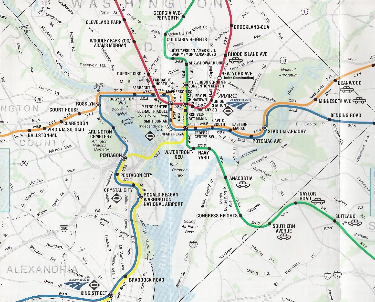 Dc Metro System Map