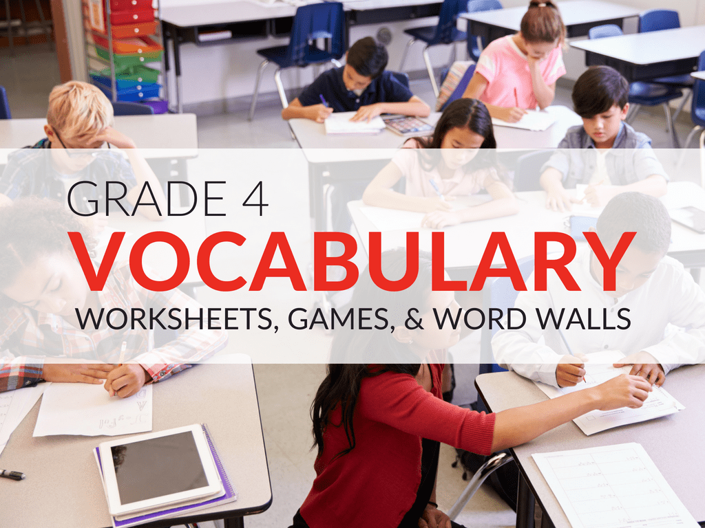 hight resolution of 4th Grade Vocabulary Worksheets