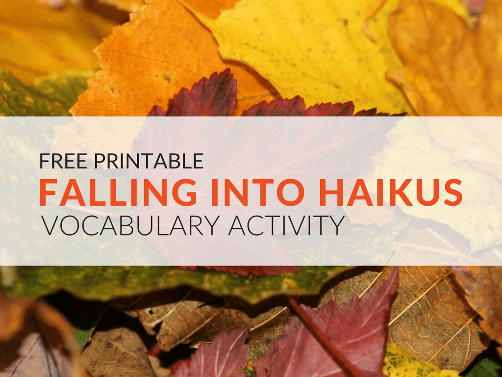 Fall Inspired Haiku Poetry Worksheet