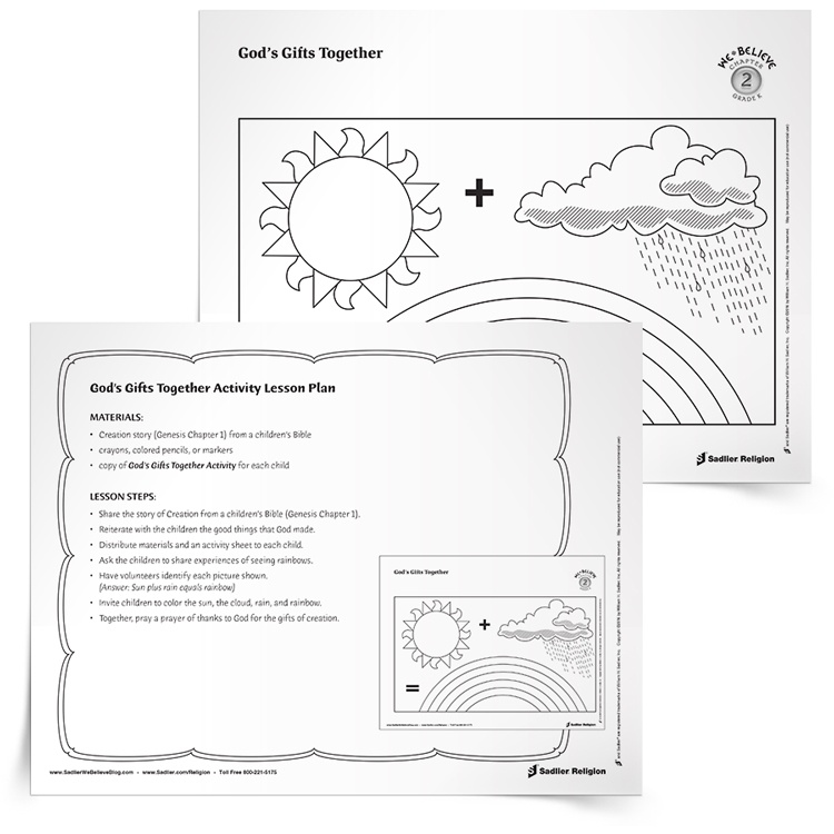 Earth Day for Catholic Kids: God's Gifts Together Activity