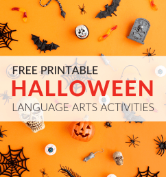 8 Free ELA Halloween Printable Activities [ 768 x 1024 Pixel ]