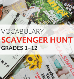 Vocabulary Scavenger Hunt Activity [ 768 x 1024 Pixel ]