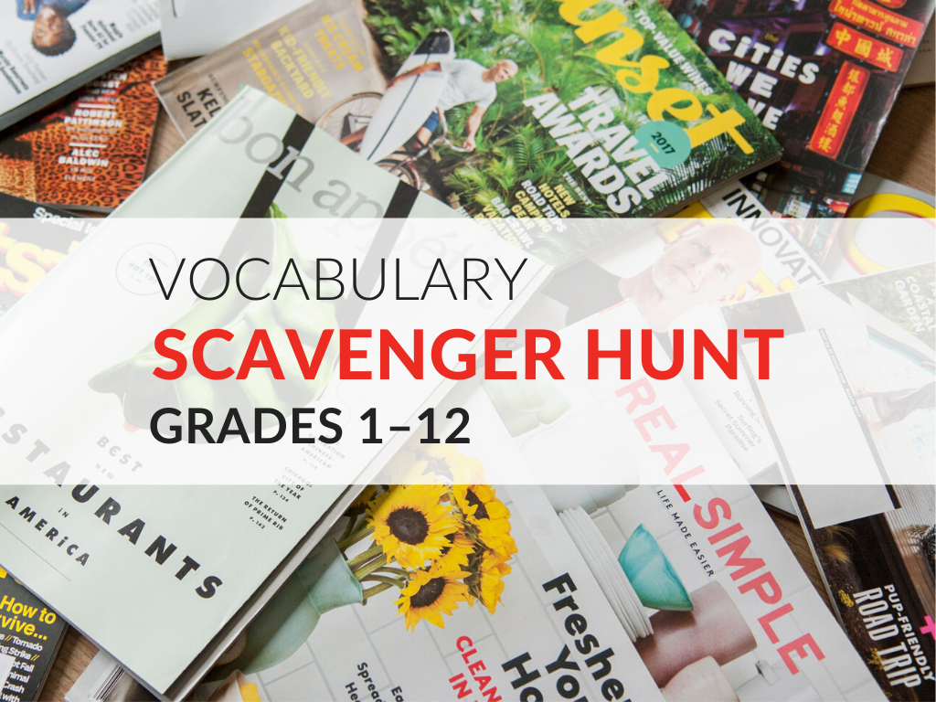 hight resolution of Vocabulary Scavenger Hunt Activity