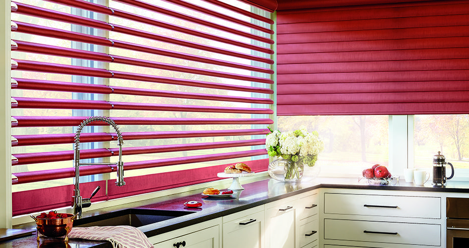 kitchen window coverings backslash in top 5 treatments pirouette shadings