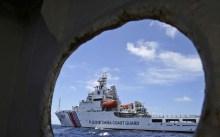 A Chinese Coast Guard ship in the South China Sea. Photo: AP