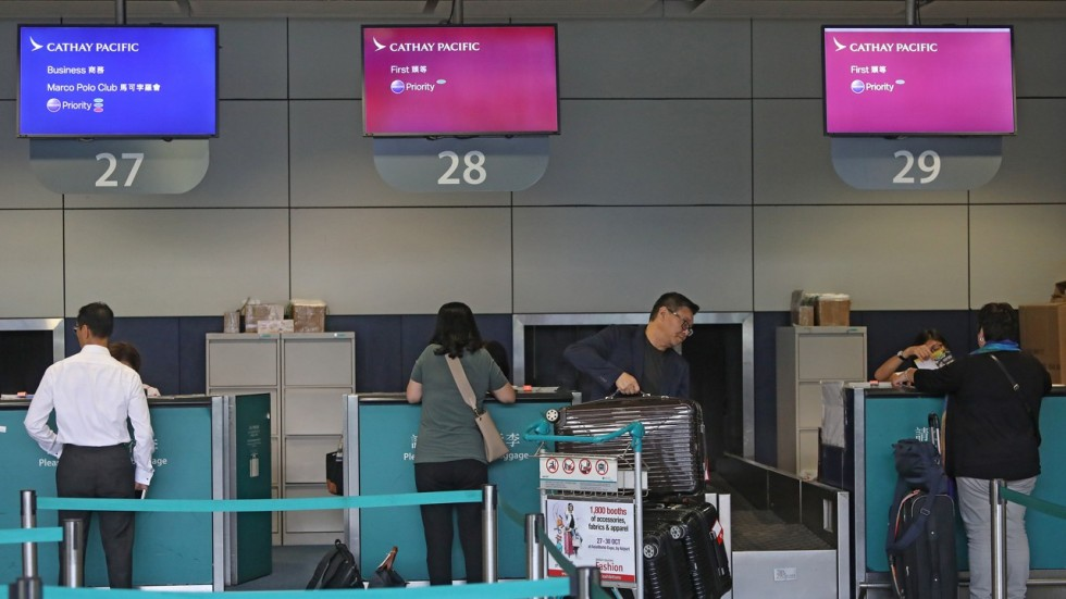 Cathay Pacific the only airline for now to ban downtown check-in for US-bound travellers | South China Morning Post
