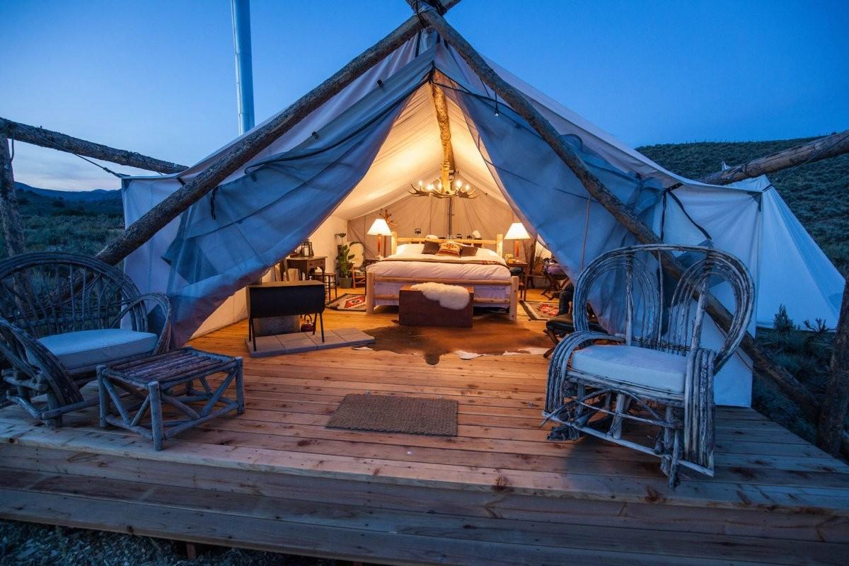 luxury camping - 'glamping'