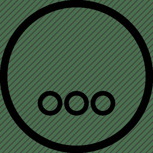 Control, media, player, remote, round, subtitles icon
