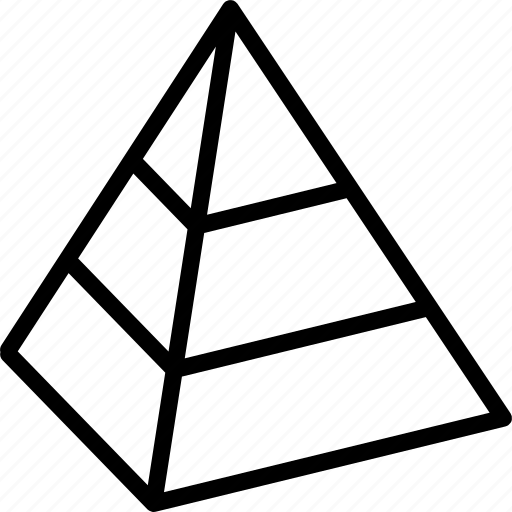 Cad, drawing, interface, modeling, pyramid, tool icon