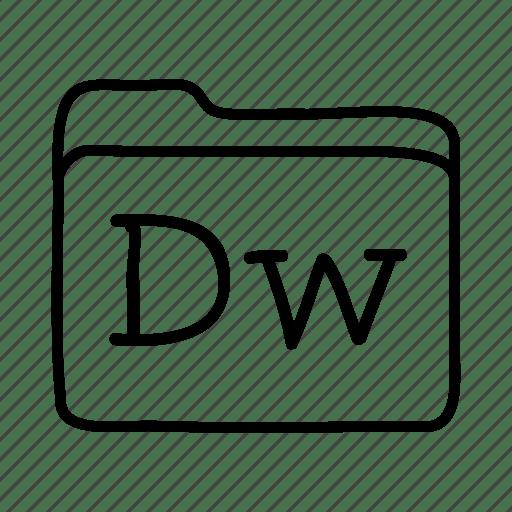 Adobe dreamweaver, application, dreamweaver, files, folder