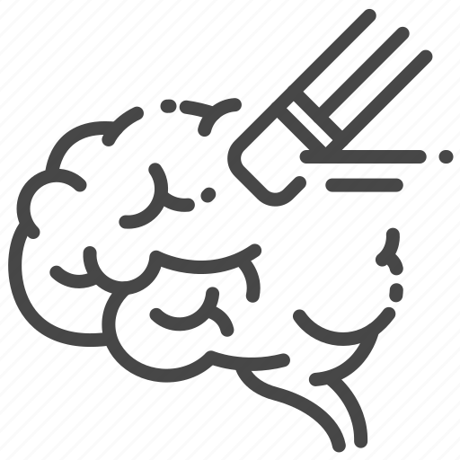 Alzheimer, brain, disorder, erase, forgot, lost, memory icon