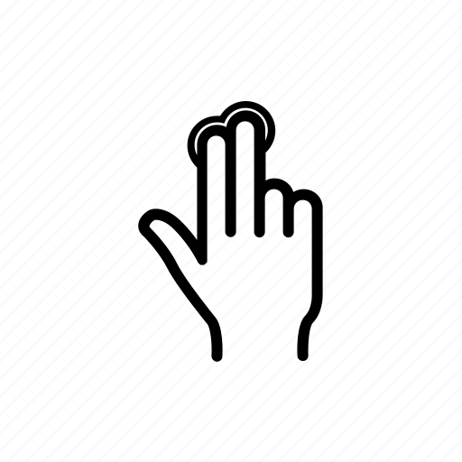 Double, double tap, fingers, hand, swipe, tap, touch icon