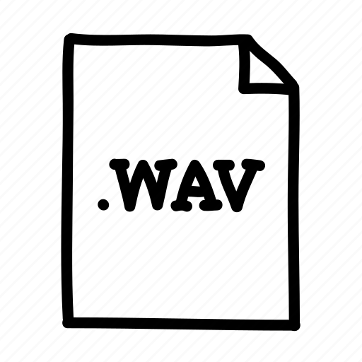 .wav, document, file, files, page, sheet, wav file icon