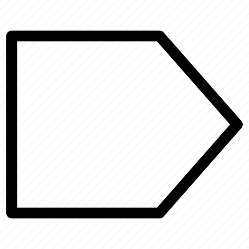 Arrow, course, direction, guide, line, right icon