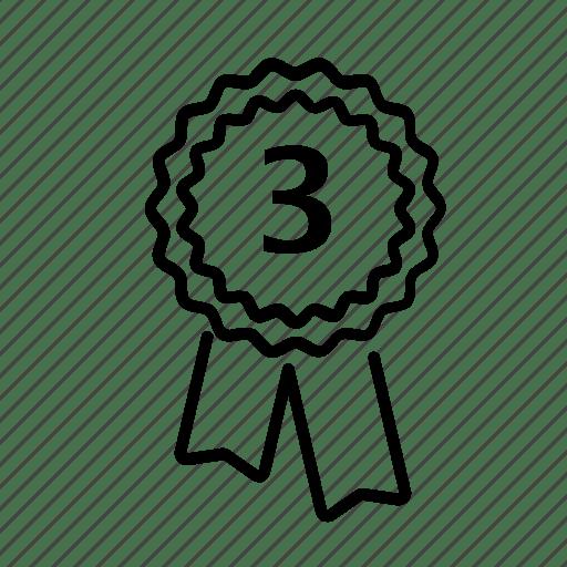 Awards, bronze, prize, reward, third prize icon