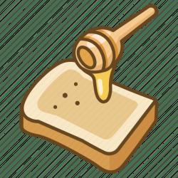 bread toast icon breakfast honey editor open