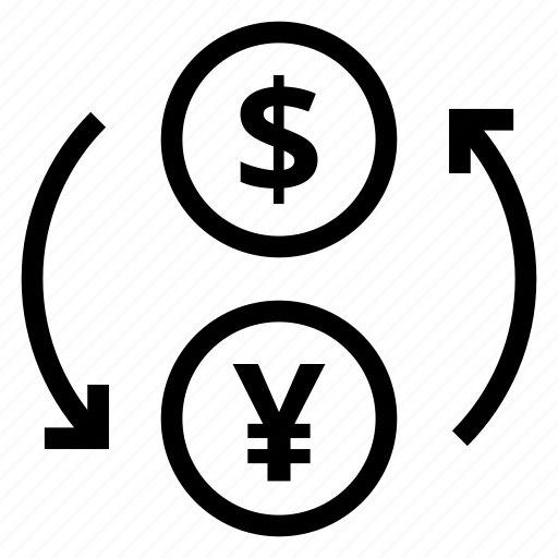 Currency, dollar, exchange, finance, money, trade, yan icon