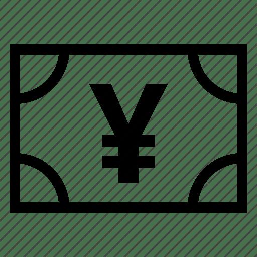 Bank, cash, currency, dollar, finance, money, yan icon