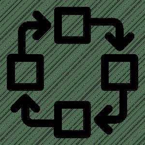 Algorithm, clock wise, cycle, diagram, flow chart, process