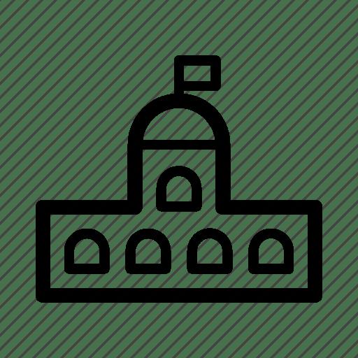Academy, building, council, power, school, university icon