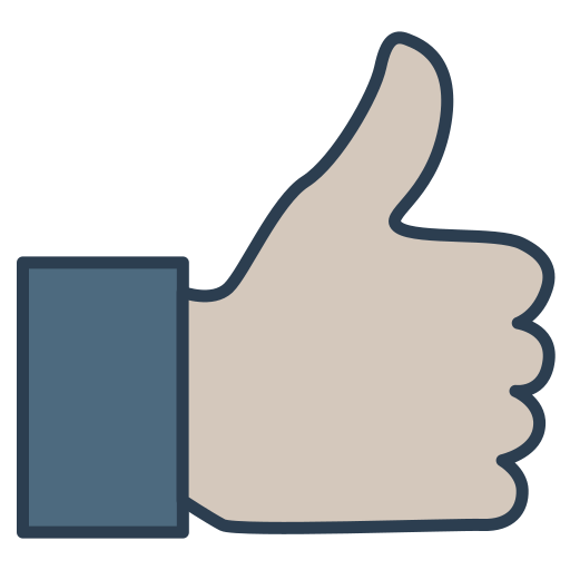 Client customer quality review thumb up user icon