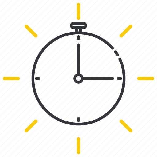 Alarm, calendar, date, period, stopwatch, time, timer icon