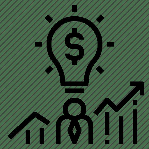 Business, entrepreneur, financial, idea, investment icon