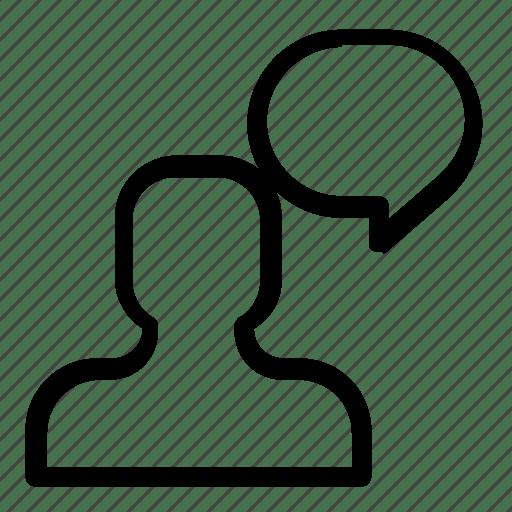 Chat, communication, man, message icon