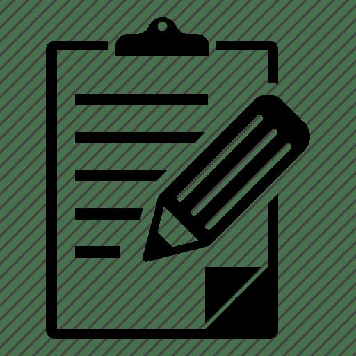 Check mark, checklist, clipboard, document, edit, notes icon