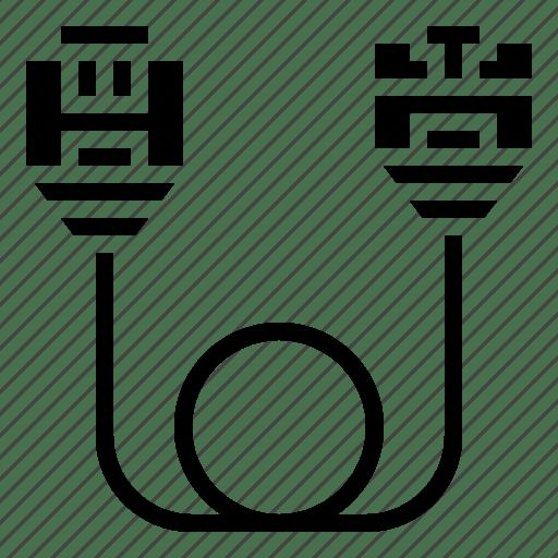 Communication, connector, lan, network, rj45 icon