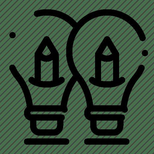 Bulb, idea, light, pencil, solution icon