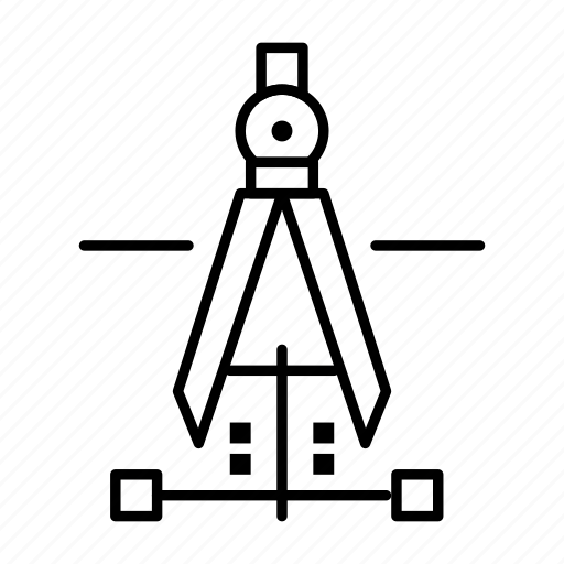 Compass, drawing, education, engineering icon