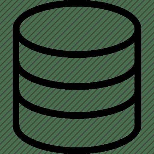 Data, data base, database, store database icon