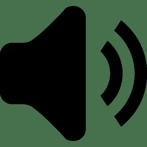 Audio music sound speaker volume icon